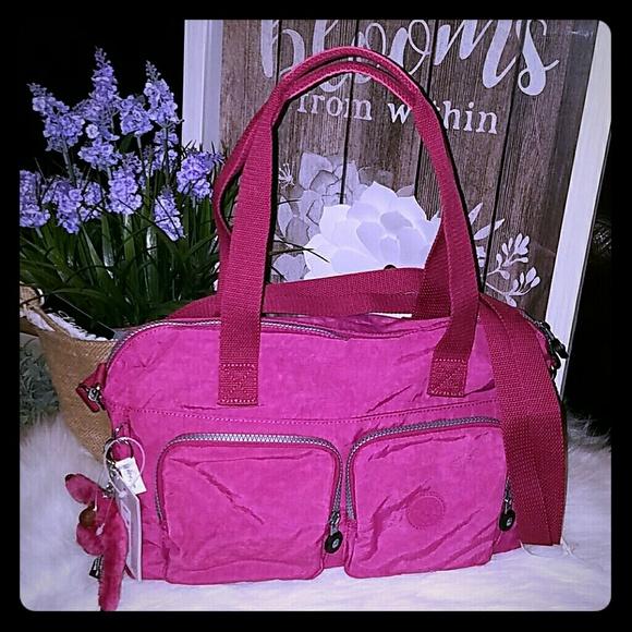 Kipling Handbags - Kipling Cyrene flamingo pink bag